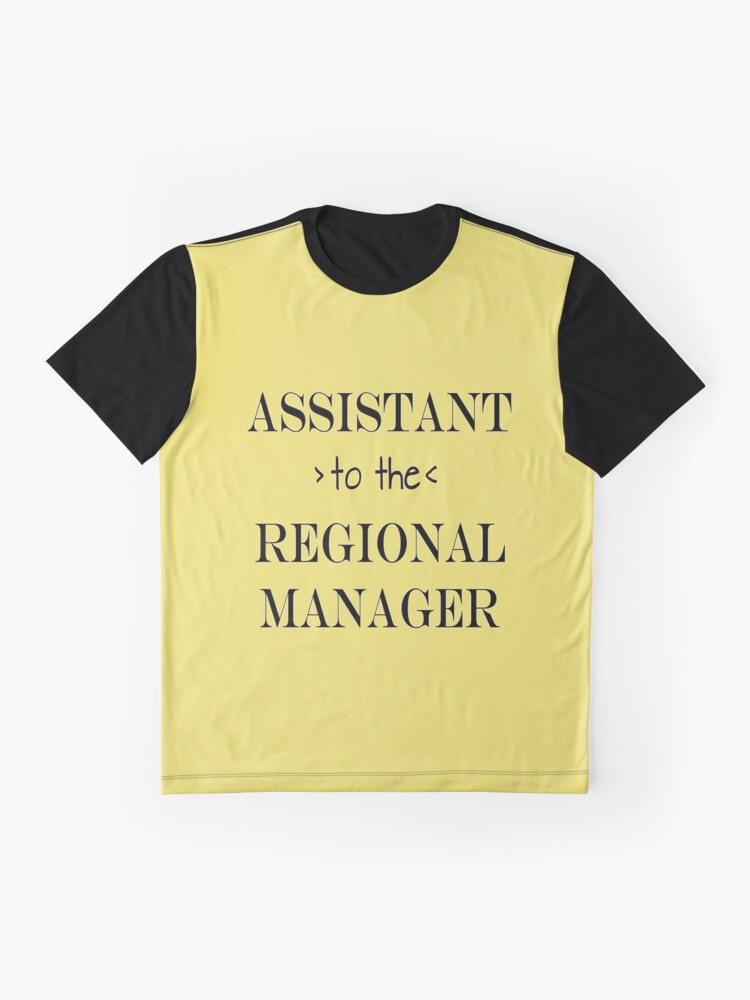Alternate view of Assistant (to the) Regional Manager Graphic T-Shirt