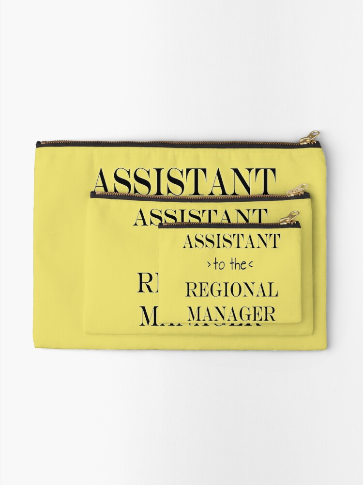 Alternate view of Assistant (to the) Regional Manager Zipper Pouch