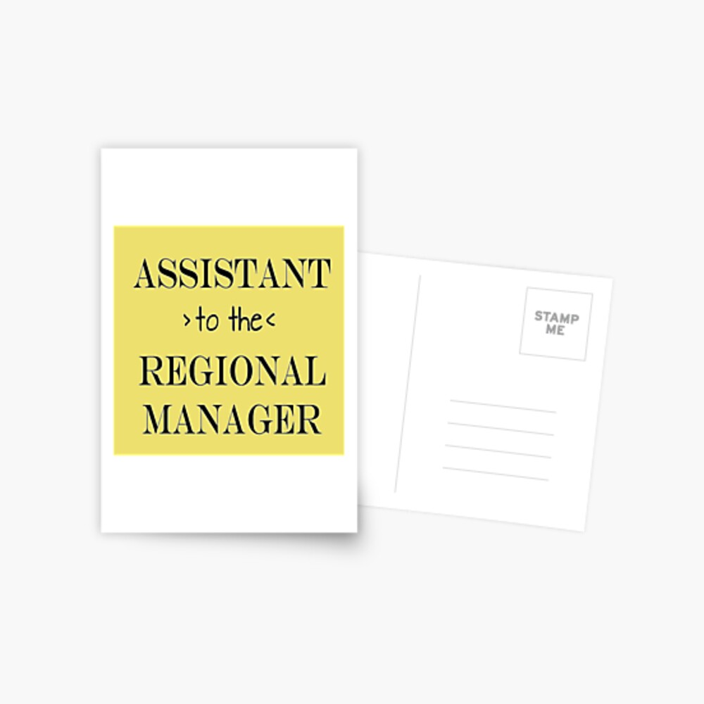 Assistant (to the) Regional Manager Postcard