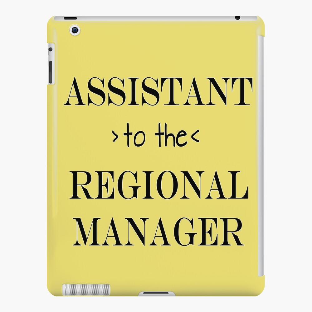 Assistant (to the) Regional Manager iPad Case & Skin