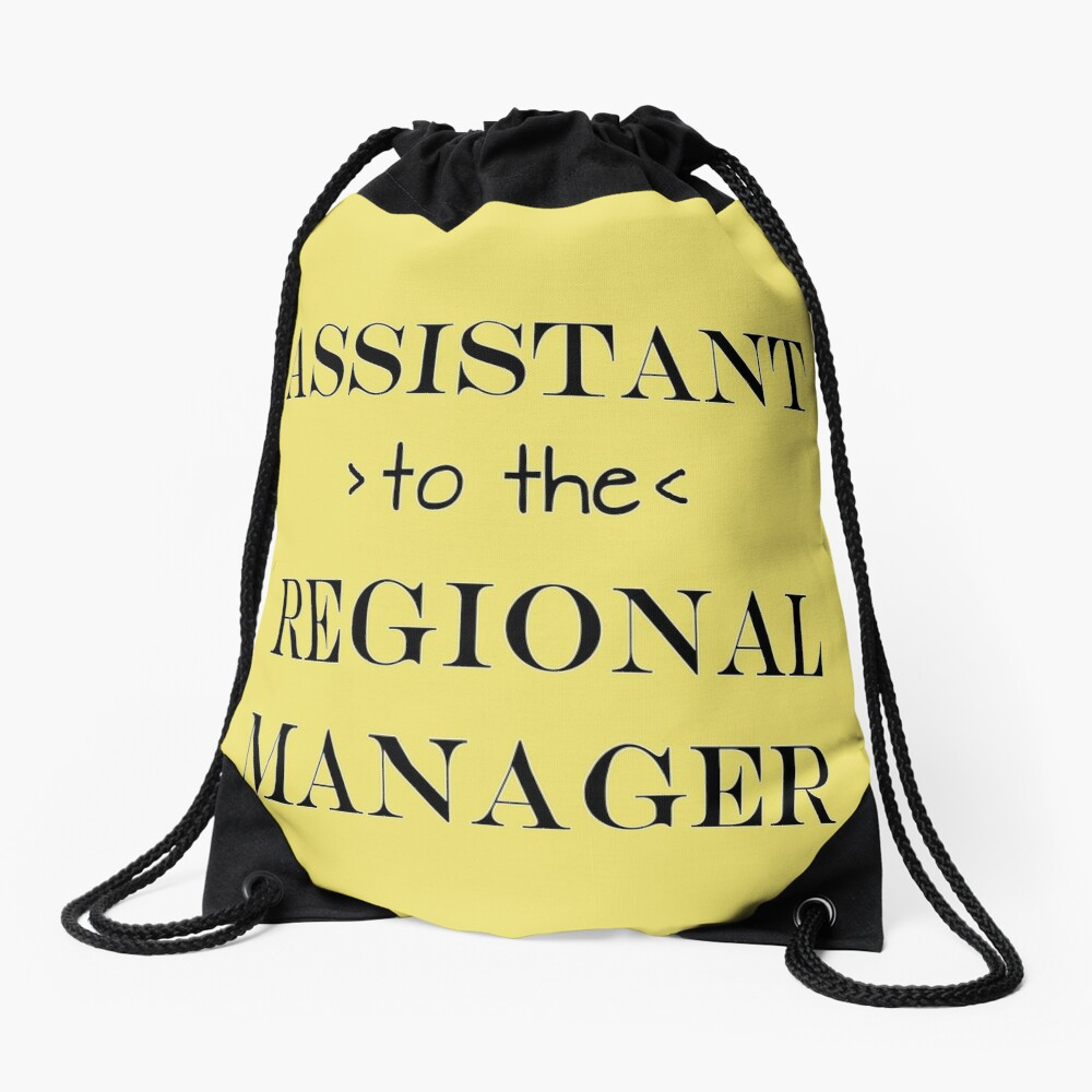 Assistant (to the) Regional Manager Drawstring Bag