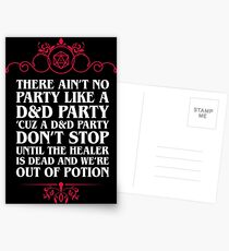 No Party Like D&D - Dungeons and Dragons Inspired DnD Postcards