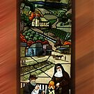 Leadlight Window depicting early West Gippsland Rural Town - No. 2 by Bev Pascoe