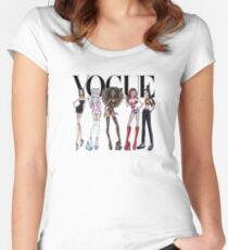 vogue spice girls Women's Fitted Scoop T-Shirt