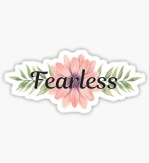 Fearless - Cute Trendy Girly Inspirational Quote Sticker