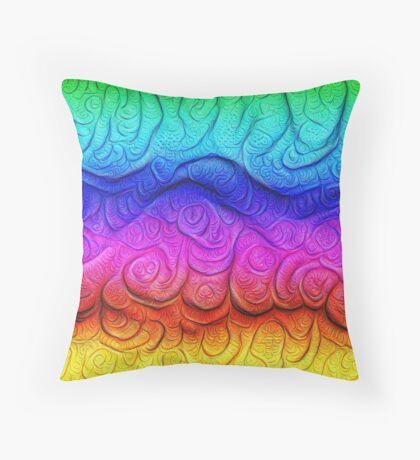 Color Foam levels #DeepDream Throw Pillow