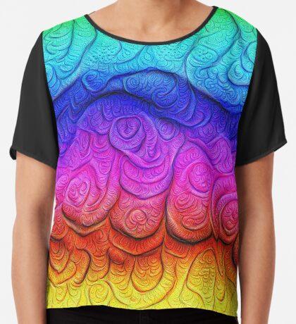 Color Foam levels #DeepDream Chiffon Top
