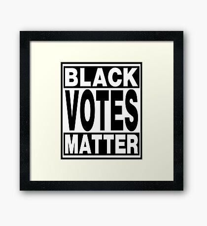 Black Votes Matter Framed Print