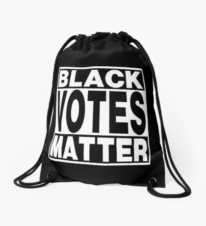 Black Votes Matter Drawstring Bag
