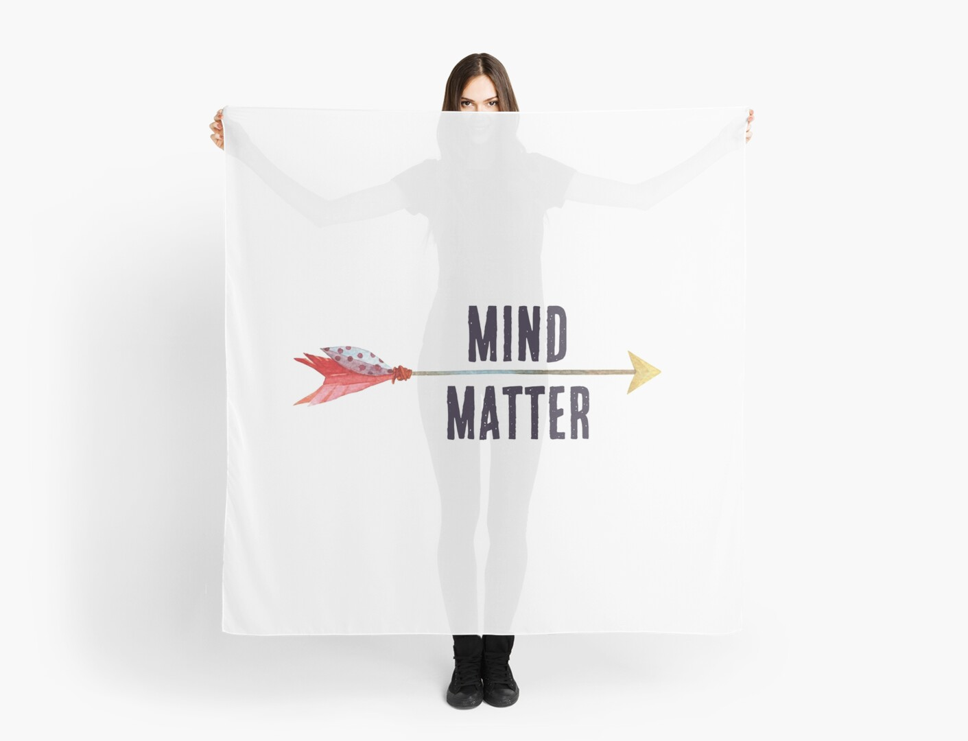 Inspirational Quote Mind Over Matter Cute Girly Boho Style