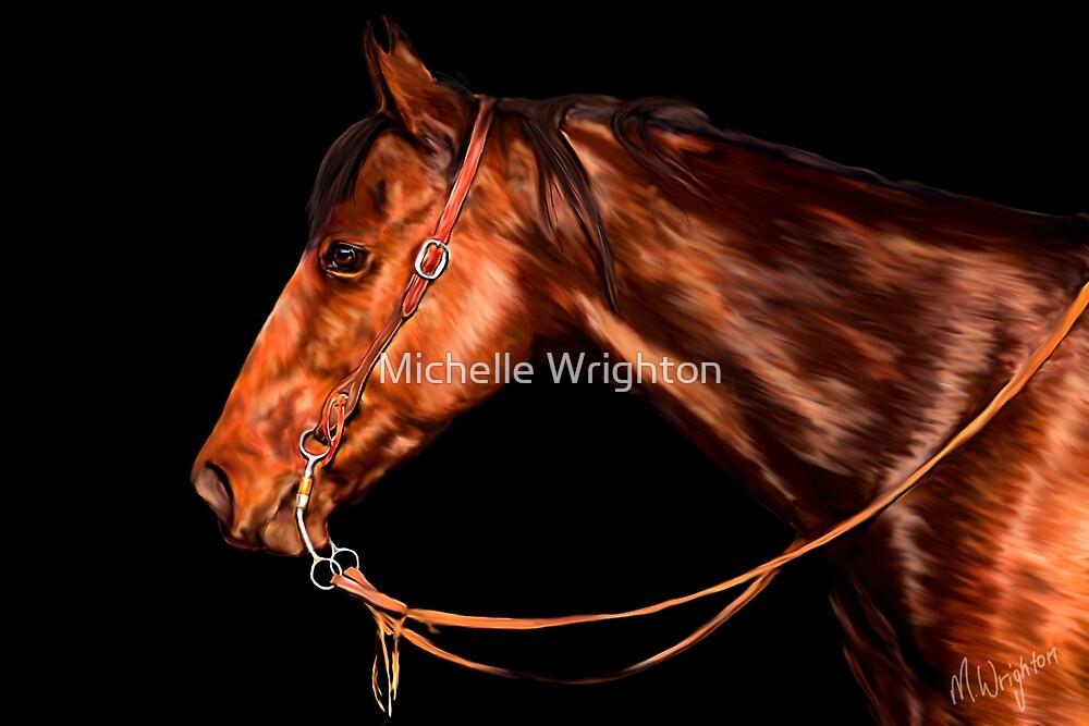 Quarterhorse Waiting His Turn by Michelle Wrighton