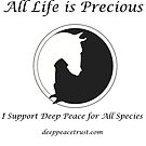 All Life is Precious (Black Writing) by Deep Peace Trust