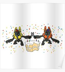 Grunt Birthday Party (NO BACKGROUND) Poster