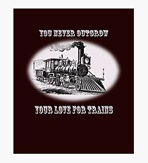 You never outgrow your love for trains - vintage retro steam engine Photographic Print