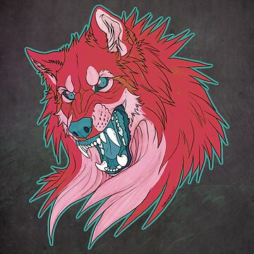 Ravewolf -Teal and Berry by DarkIceWolf