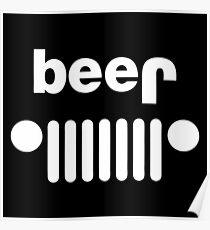 Beer Jeep Merchandise Poster