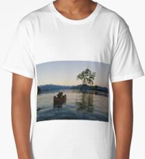 The Lego Backpacker checking out the Wanaka tree Long T-Shirt