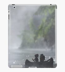 The Lego backpacker canoeing in hot pools in New Zealand iPad Case/Skin