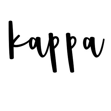 kappa sticker by MorganNicole021