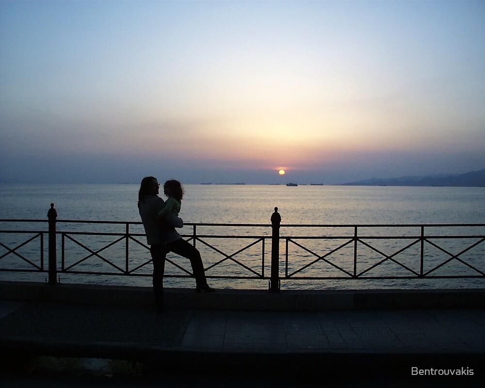 Athenian Automn Sunset by Bentrouvakis