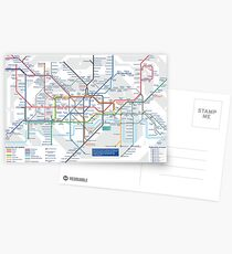 London Underground and City Map - HD Postcards