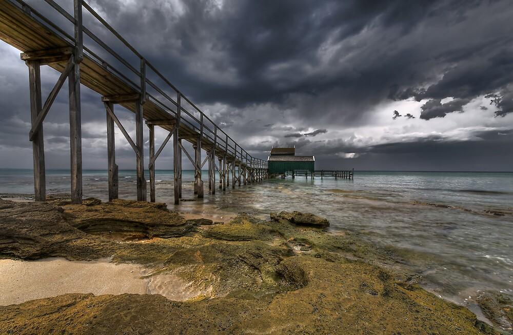 Stormy Bayside. by Robert Mullner