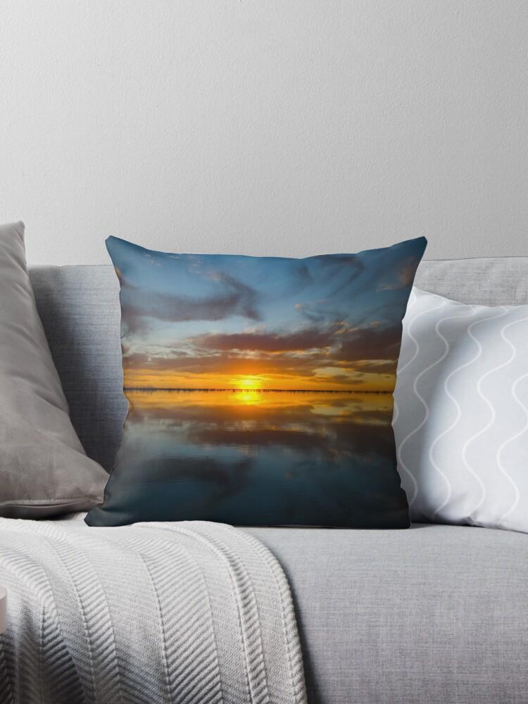 Big lake sunset by Adam Edwards