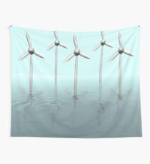 Offshore wind farm Wall Tapestry