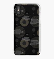 Black I Gold I White geometric pattern lines iPhone Case/Skin