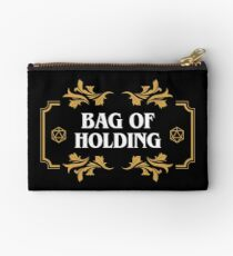 Bag of Holding Dice Container D20 Game Master Tabletop RPG Addict Zipper Pouch