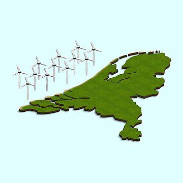 wind turbines off the Dutch North Sea Coast by funkyworm