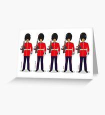 Royal Guards Greeting Card