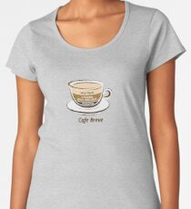 Cafe Breve Women's Premium T-Shirt