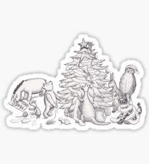 Pooh Bear & Friends Christmas Tree Sticker