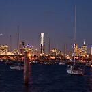 Melbourne at night by William Coronado