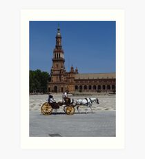 Horse and Carriage, Seville Art Print