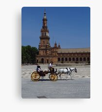 Horse and Carriage, Seville Canvas Print