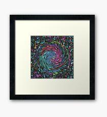 Mosaic swirls Framed Print
