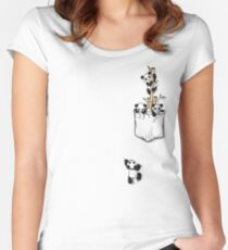 POCKET PANDAS Women's Fitted Scoop T-Shirt