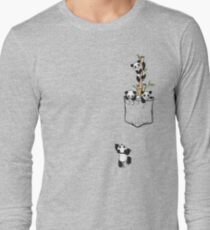 POCKET PANDAS Long Sleeve T-Shirt