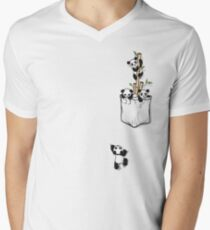 POCKET PANDAS Men's V-Neck T-Shirt