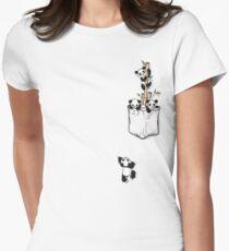 POCKET PANDAS Women's Fitted T-Shirt