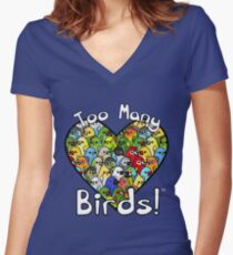 Too Many Birds! Bird Squad 1 Women's Fitted V-Neck T-Shirt