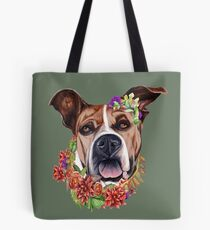 Flower power pup Tote Bag
