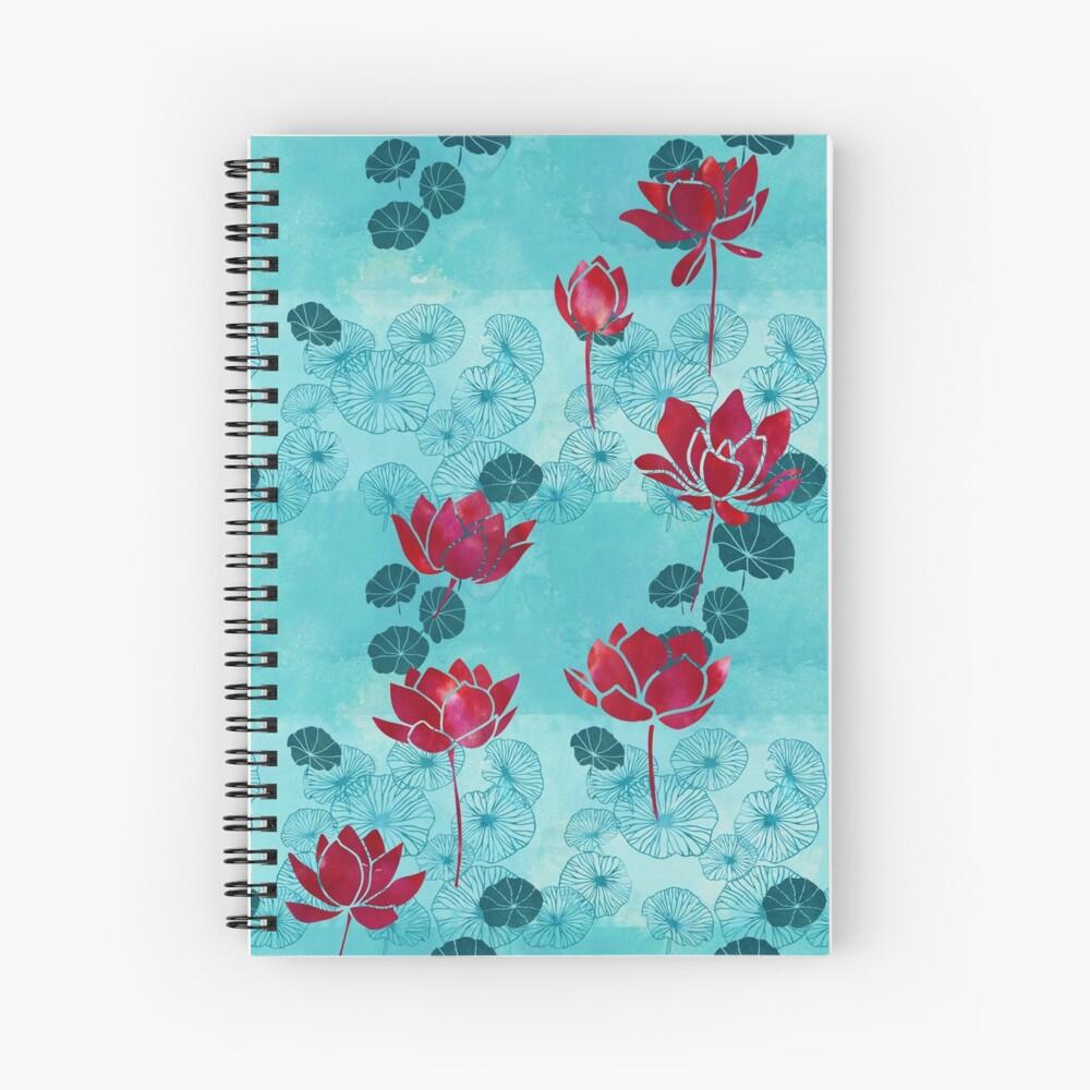 Pure zen waterlily pattern Spiral Notebook