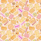 Assorted Biscuits - Pink by makemerriness