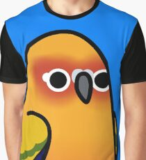 Too Many Birds! - Sun Conure Graphic T-Shirt