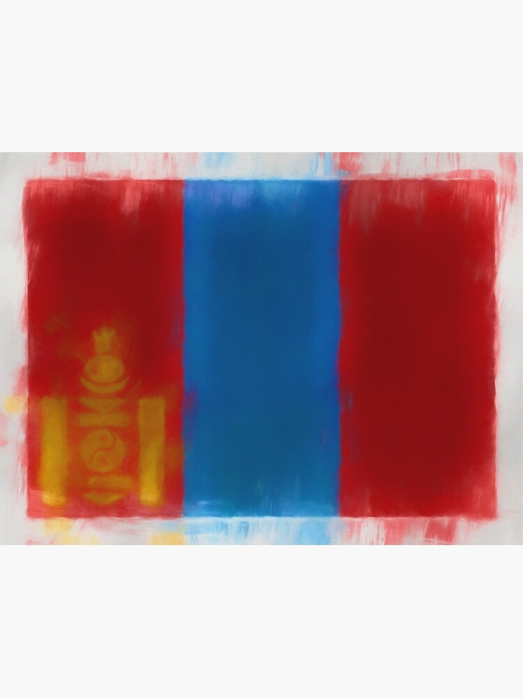 Mongolia Flag Reworked No. 66, Series 1 by 8th-and-f