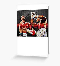 AJ vs Klitschko - Uppercut Fatality Greeting Card