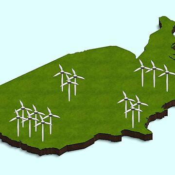 Wind energy USA by funkyworm